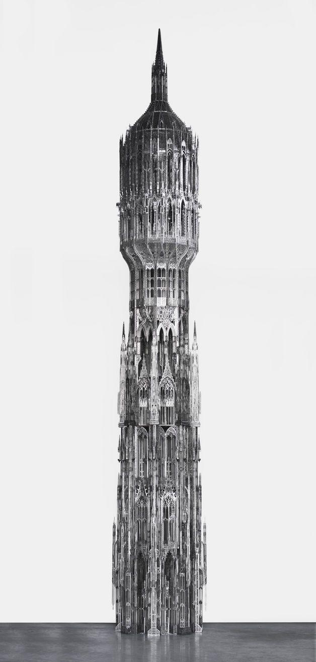 Wim Delvoye Belgium B 1965 Gothic Tower Stainless