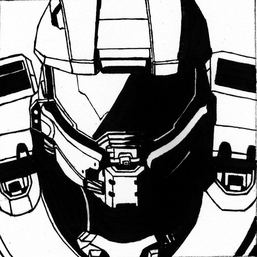 Halo Master Chief Helmet Drawing At Getdrawings Master