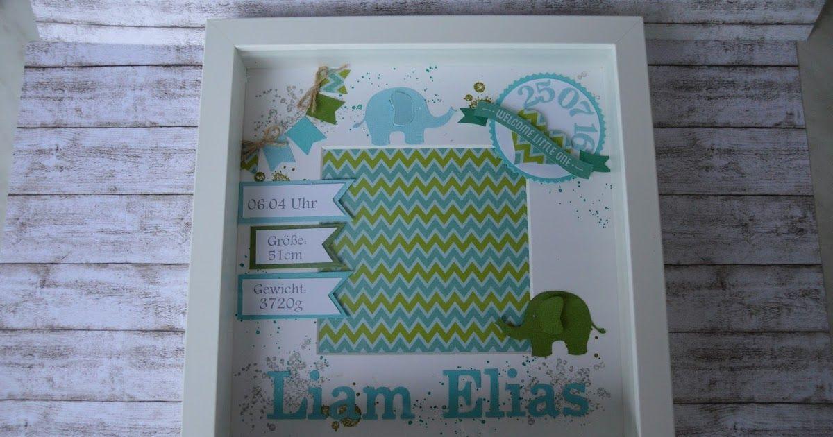 Ende Juli hat der kleine Liam   das Licht der Welt erblickt.      Als Erinnerung an seinen Geburtstag   habe ich für die frischgebackenen ...