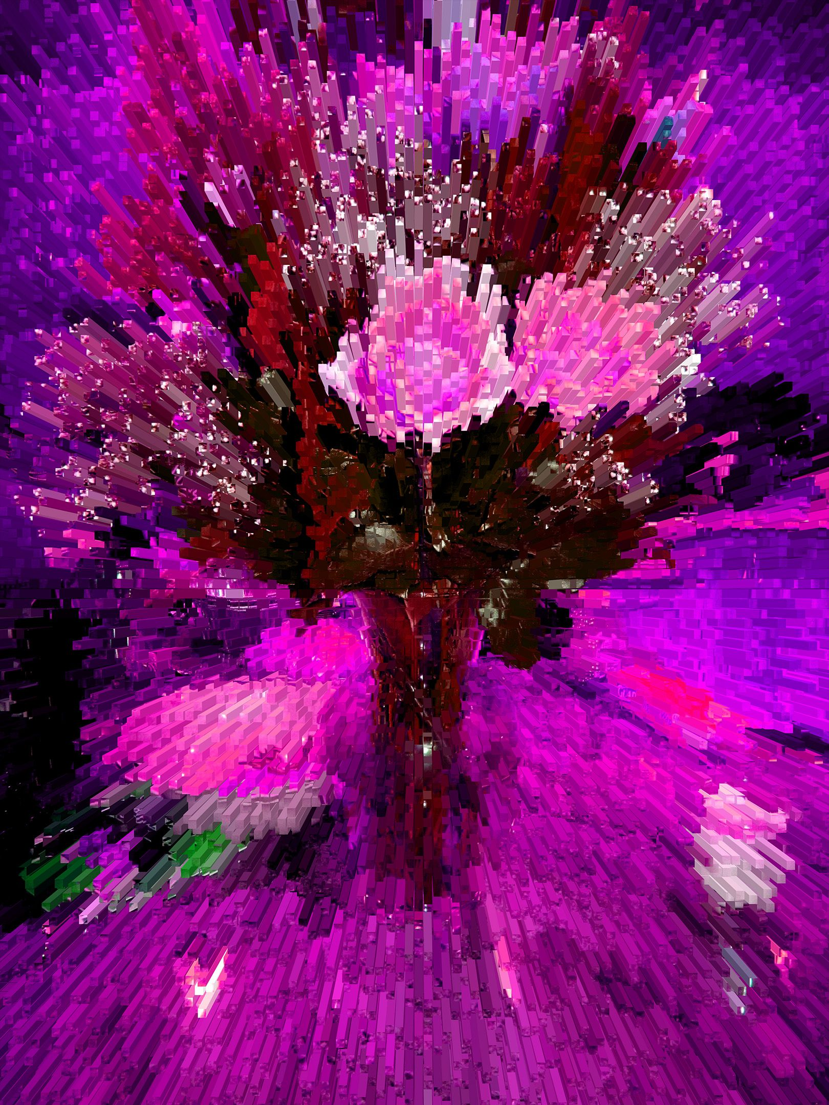 Flower feminine pink art Art and technology, Art