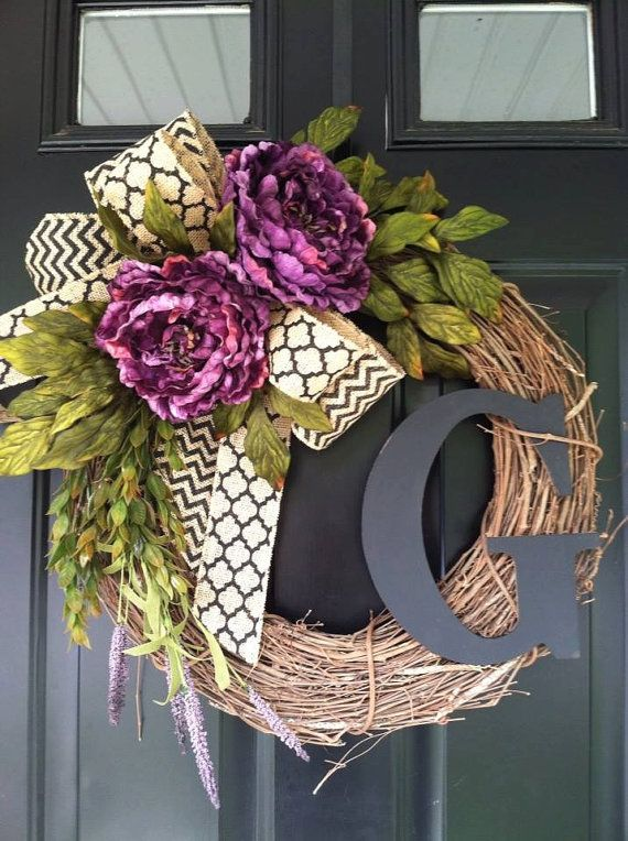 Photo of Items similar to Wreath – Fall Wreath – Chevron Monogrammed Grapevine Wreath – Winter Wreath- Fall Wreaths – Personalized Gifts – Gift Ideas – Wreaths on Etsy