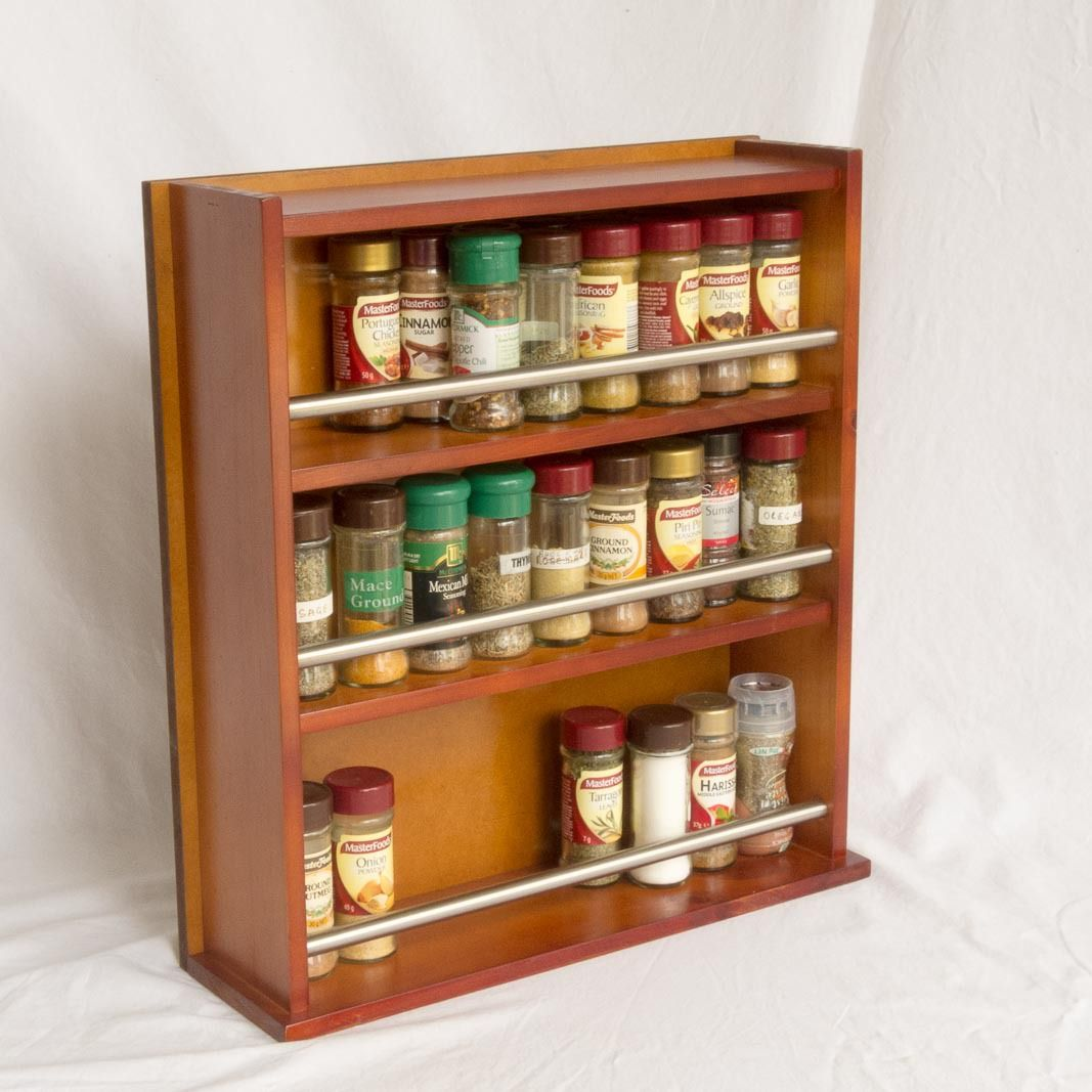 Wooden E Rack Enclosed Top 3 Tiers Stainless Steel Bar 54 Herb And Jars Coupon Newsletter