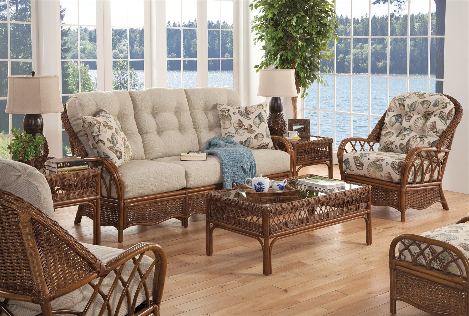 Every item on this page was curated by an elle decor editor. Everglade Rattan 5 Piece Living Room Set Model 905 by ...