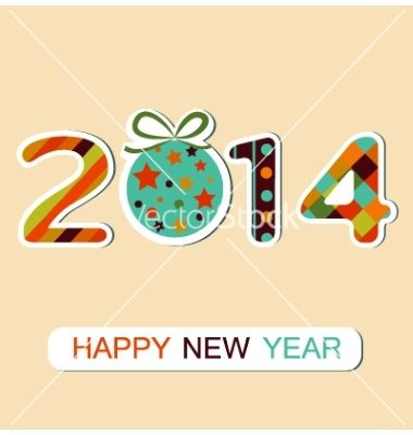 Happy new year 2014 celebration background vector  - by ladoga on VectorStock®