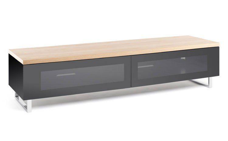 Panorama Tv Meubel.Techlink Pm160lo Panorama Piano Gloss Black And Light Oak Large Tv