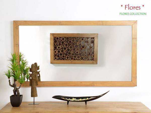 Schlafzimmer Bambus ~ Bambus wandspiegel flores quer bambusmöbel für dein schlafzimmer