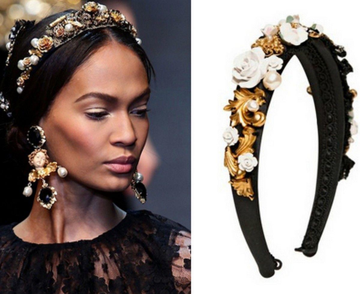 diy dolce & gabbana embellished headbands | baroque | pinterest