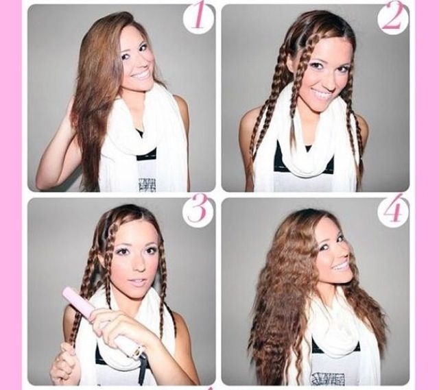 Put Your Hair In Braids And Slide A Straightener Down Each One To Create A Crimped Style Hair Styles Long Hair Styles Hair Tutorial