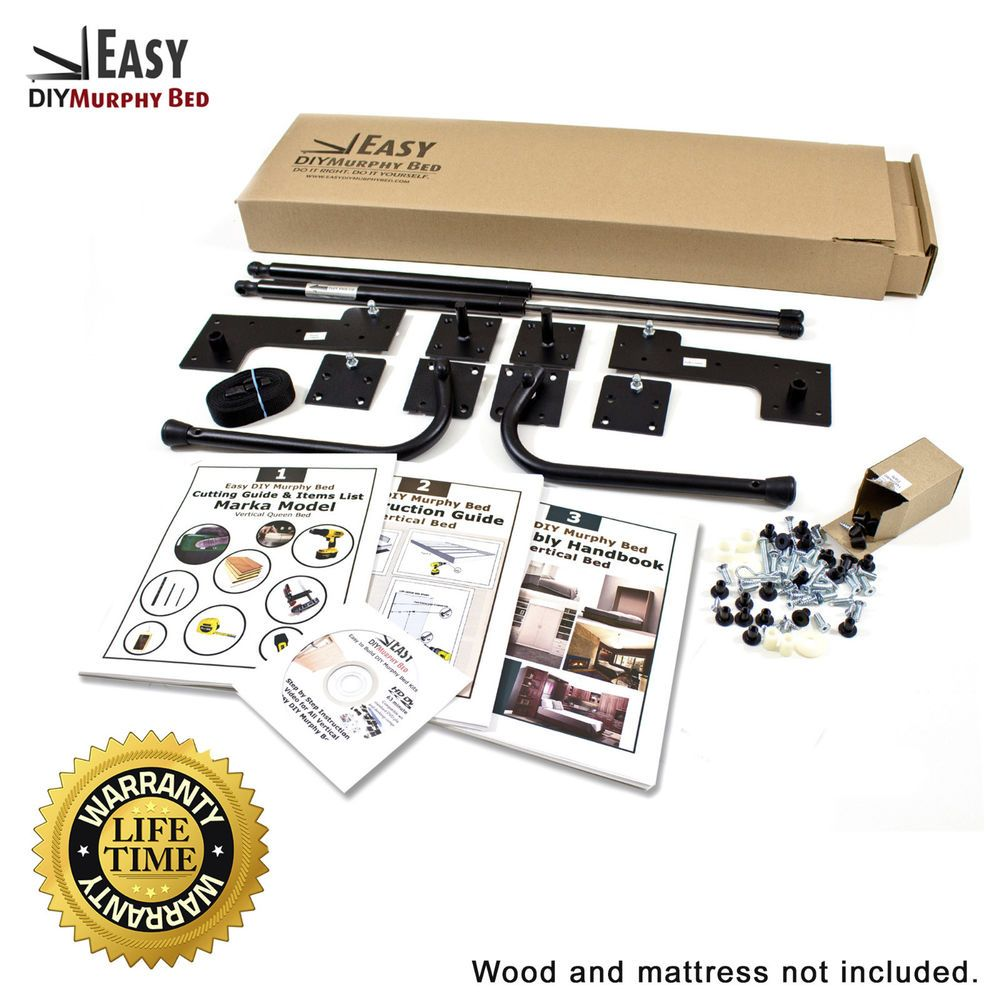 Queen Size Easy DIY Murphy Bed Hardware Kit Vertical Wall Mount Style   Home & Garden, Furniture, Beds & Mattresses   eBay!
