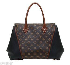 e2df21d7bea3 Louis Vuitton Monogram with Black Leather Tote Shopper  LV  Designer   LouisVuitton  Shopper