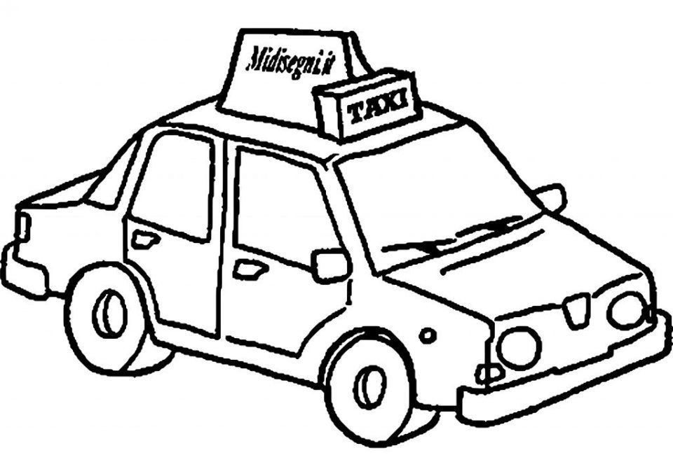 Taxi Para Colorear Coloring Pages Free Hd Wallpapers
