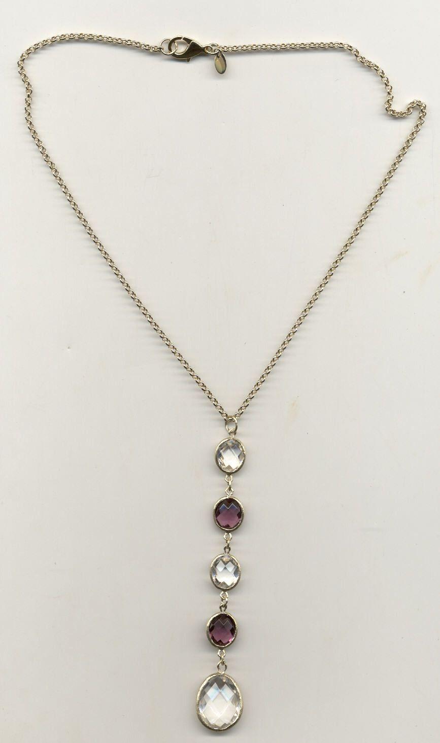 Multi Crystal Y Necklace - Closeout