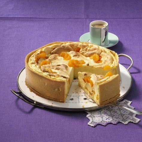 Quark Souffle Torte Mit Mandarinen