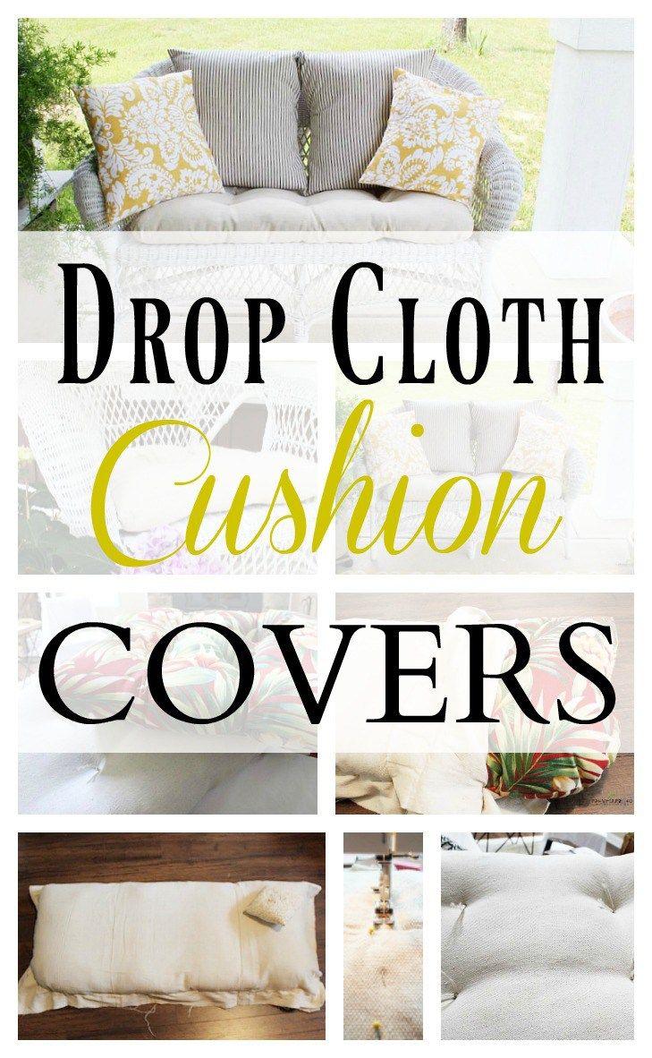 Drop Cloth Outdoor Cushions