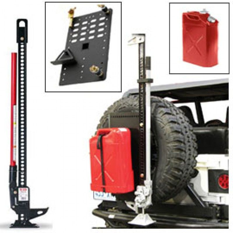 48 Hi Lift Cast Steel Jack Kit With Jerry Can Red Intelligent