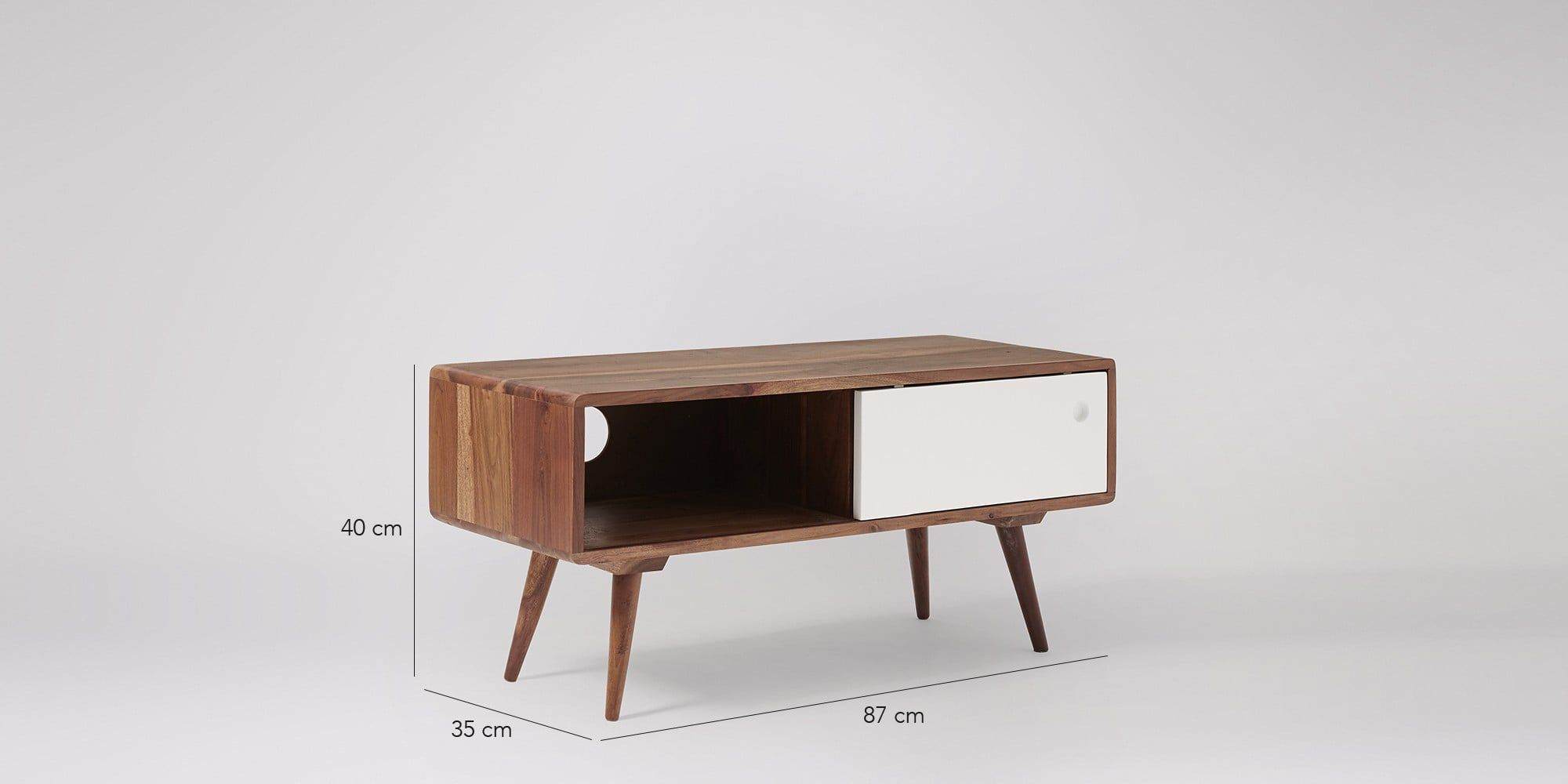 Watson Tv Tables Front Rooms And Mid Century # Meuble Tv But Gris