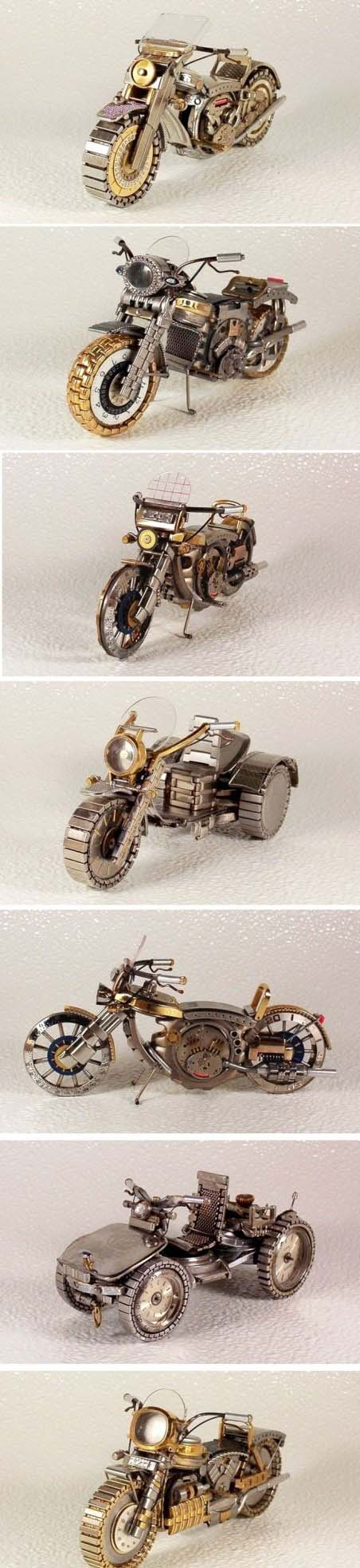 Some cool-looking vehicles made from watch parts. Nice #custom ...