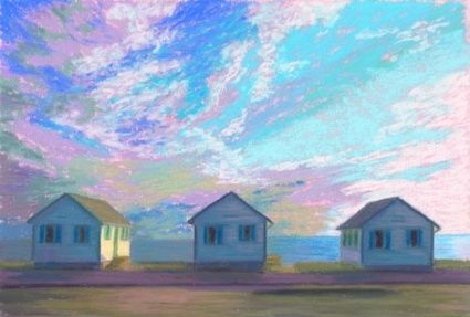 Daily Painting Cape Cod Beach Cottages By Artist Nancy Poucher