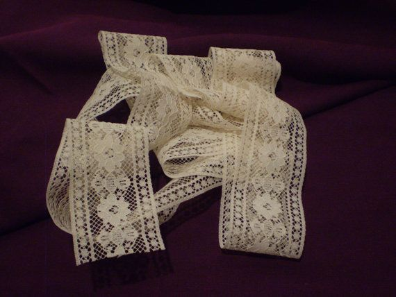 Beautiful Vintage Beige Flat Lace Border 2 by Wearehomecrafting, $5.00