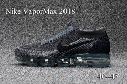 48776a48de1e9 Humanized Nike Air Vapormax FK   CDG X Comme Des Garcons Black Grey Men s Athletic  Running