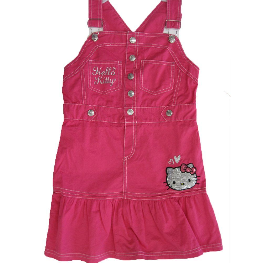 4038d83e741 Hello Kitty Little Girls Fuchsia Snap Sequined Applique Ruffle Dress 5. A  trendy fuchsia strappy