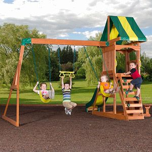 Backyard Discovery Weston Cedar Swing Set - Walmart.com ...
