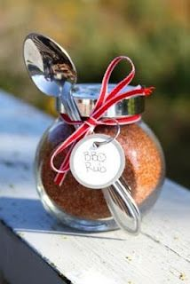 Handmade Gifts from your Kitchen Love and BBQ = the spice of life - as an alternative to the succulents