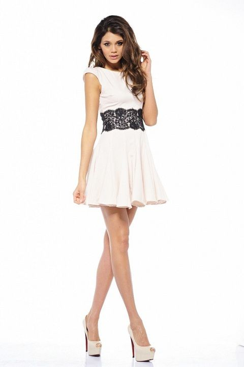 cute black and white lace dresses for juniors | dress styles