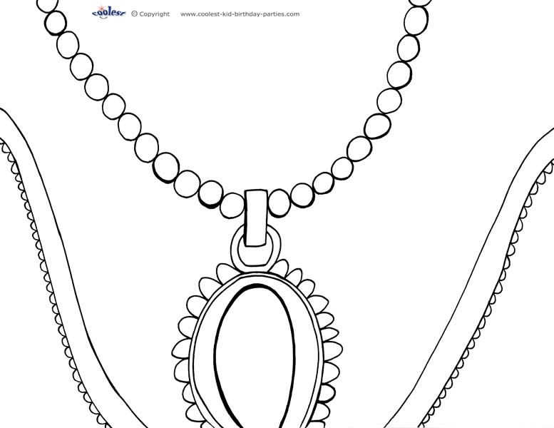 Printable Necklace Coloring Page Coolest Free Printables Coloring Pages Necklace Printables