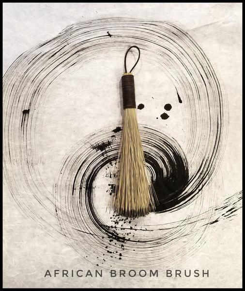 Handmade African Broom Fiber (16 Inches Long Total) Paint Brush