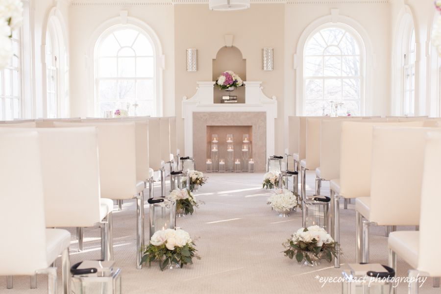 ceremony flowers designed by simply perfect at the mclean house  estates of sunnybrook  toronto