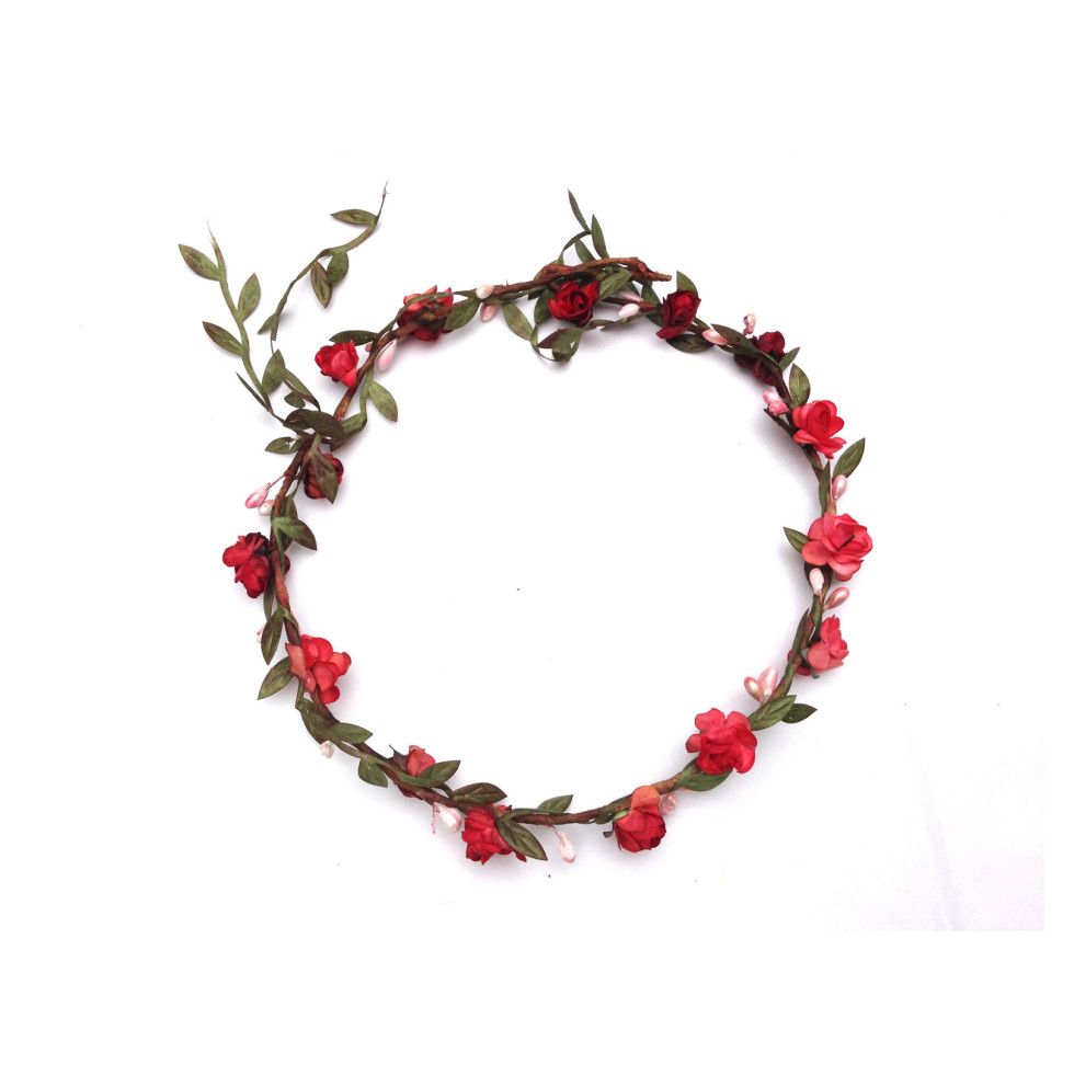 Flower crown small red prom pinterest flower crowns crown and flower crown small red izmirmasajfo Images