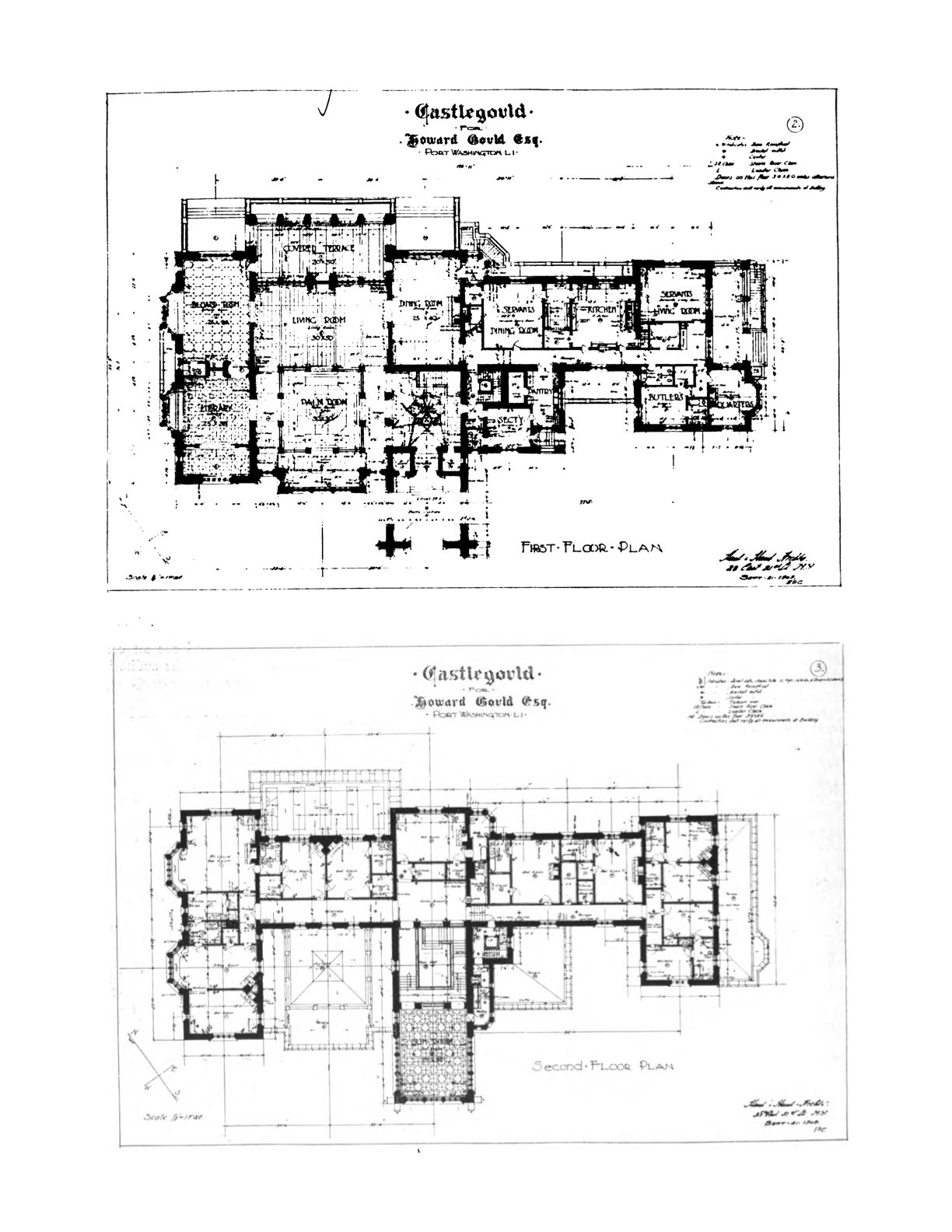 Old long island castlegould hempstead house · architectural floor plansarchitectural drawingsmansion