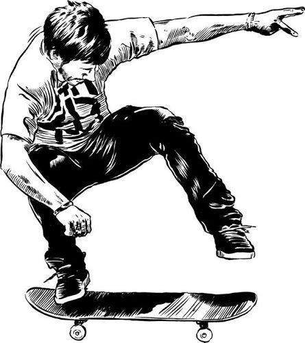 Chris Cole Skate Dibujo Rampas De Skate Disenos Para Remeras