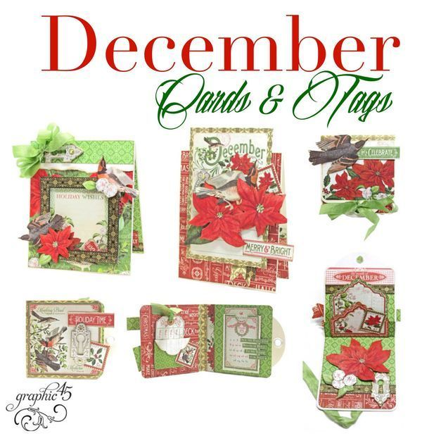 Graphic 45 Presents a December Time to Flourish Cards & Tags Project Sheet