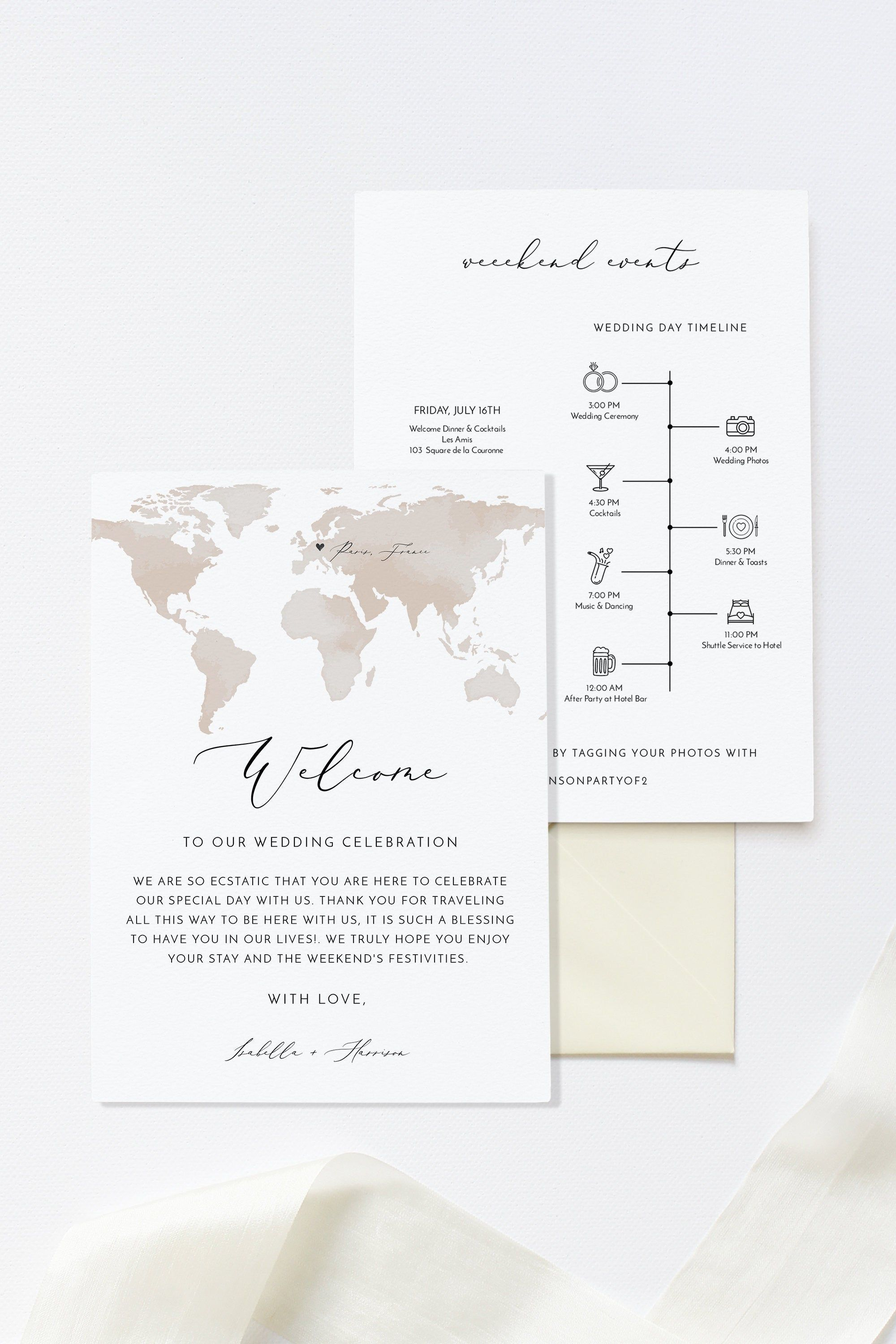 Carmen Destination Wedding Welcome Letter And Itinerary Etsy Wedding Welcome Letters Wedding Itinerary Template Welcome Letters