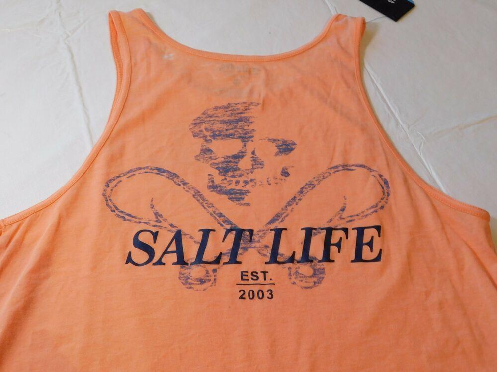 51d09d91c0586 Salt Life Live Salty Mens sleeveless tank top M medium SLM30096 Grapefruit  NWT  SaltLife  tanktop