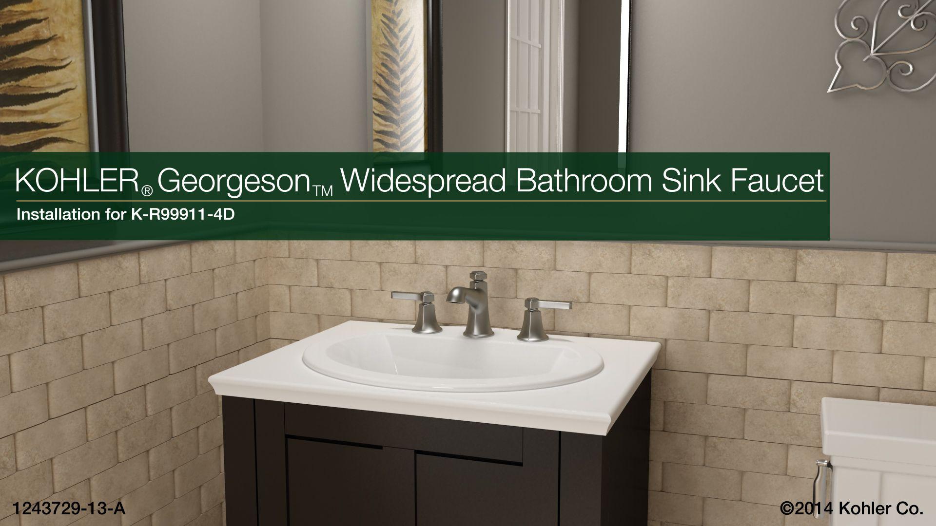 Georgeson Widespread Bathroom Sink Faucet | K-R99911-4D | KOHLER ...
