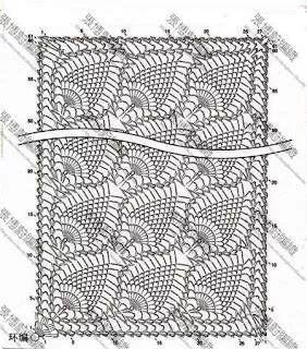 Grafico de bufanda verde