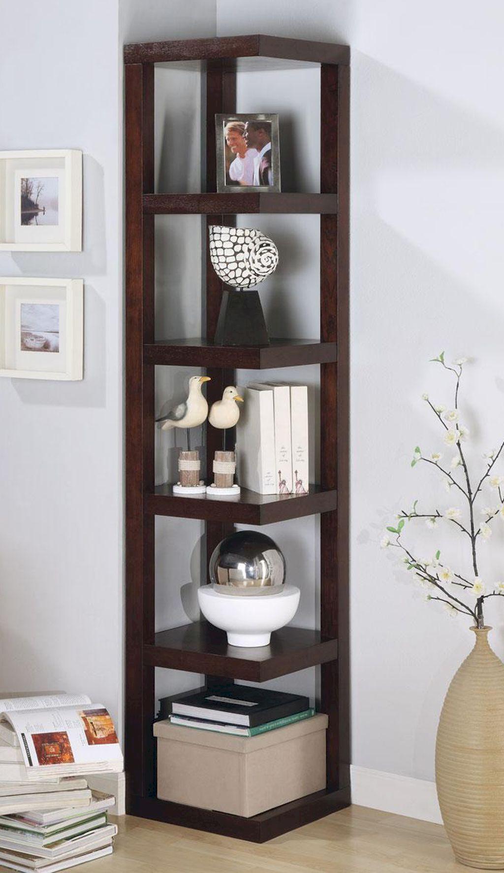 Gorgeous 60 Diy Floating Corner Shelve For Living Room Decor Ideas Source Link Https Doitdeco Living Room Corner Decor Corner Shelf Design Corner Furniture