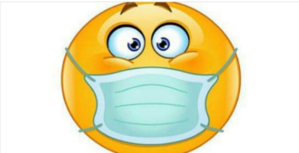 Smiley with breathing mask | Emoticone gratuit, Emoticone ...