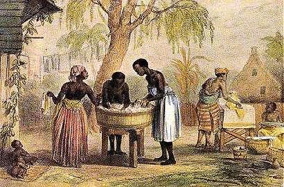 P. Benoit in Suriname - Huisvlijt, wassen, strijken en opvouwen