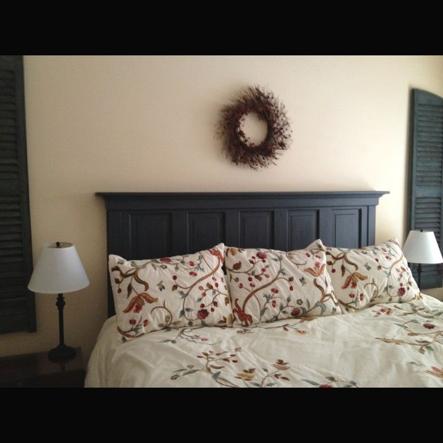 King headboard ideas re visions 5 door into a king - King size headboard ideas ...