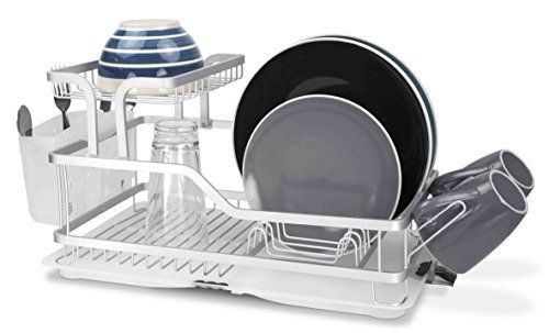 Home Basics 2 Tier Dish Rack Simple Home Basics 2Tier Aluminum Dish Rack Home Basics Httpswwwamazon Decorating Inspiration