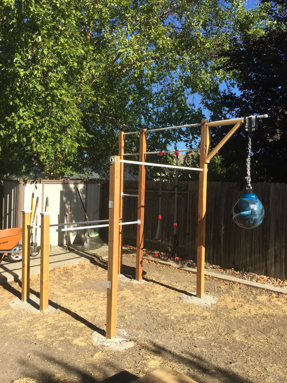 Diy Backyard Workout Ideas Backyard Gym Backyard Jungle