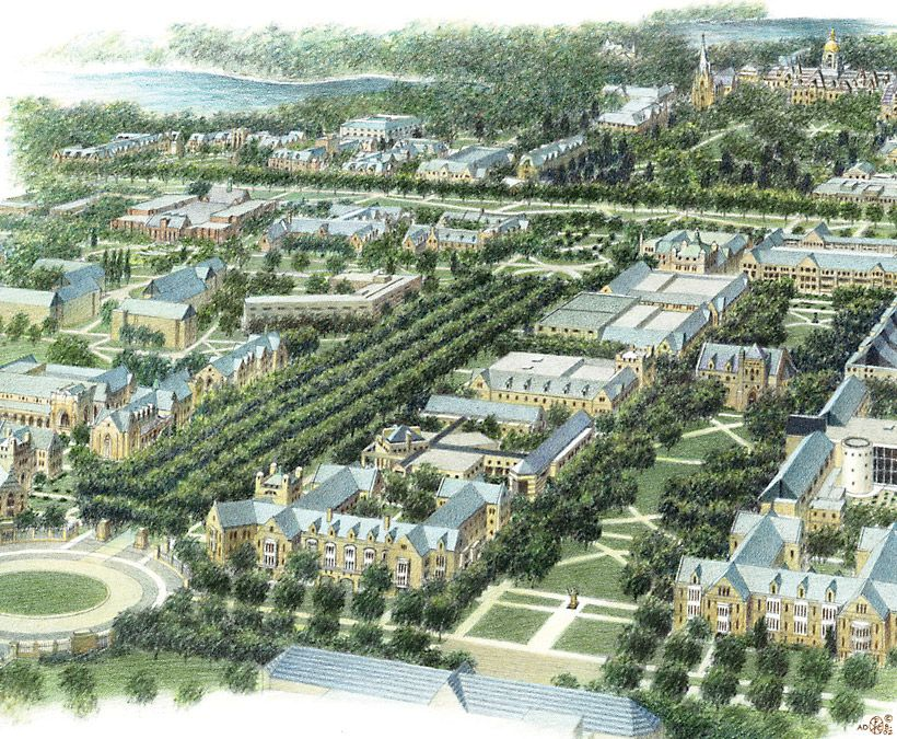 University of Notre Dame, Campus Plan and Campus Plan