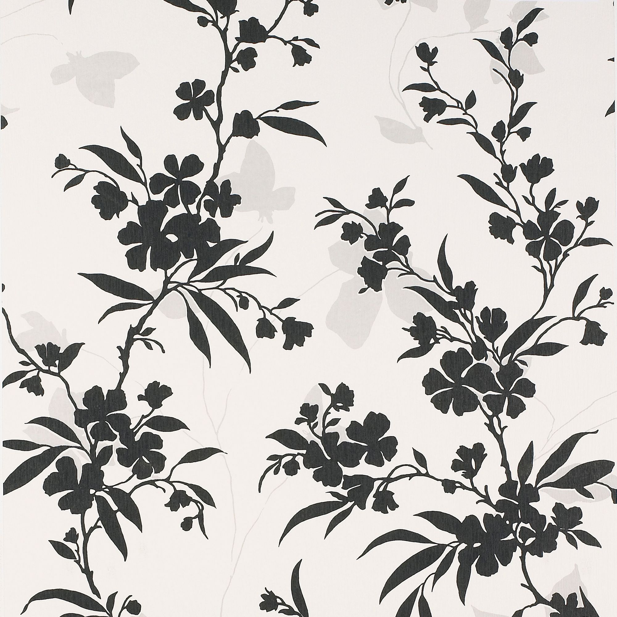 Colours Paste The Wall Vogue Black White Wallpaper Departments Diy At Bq
