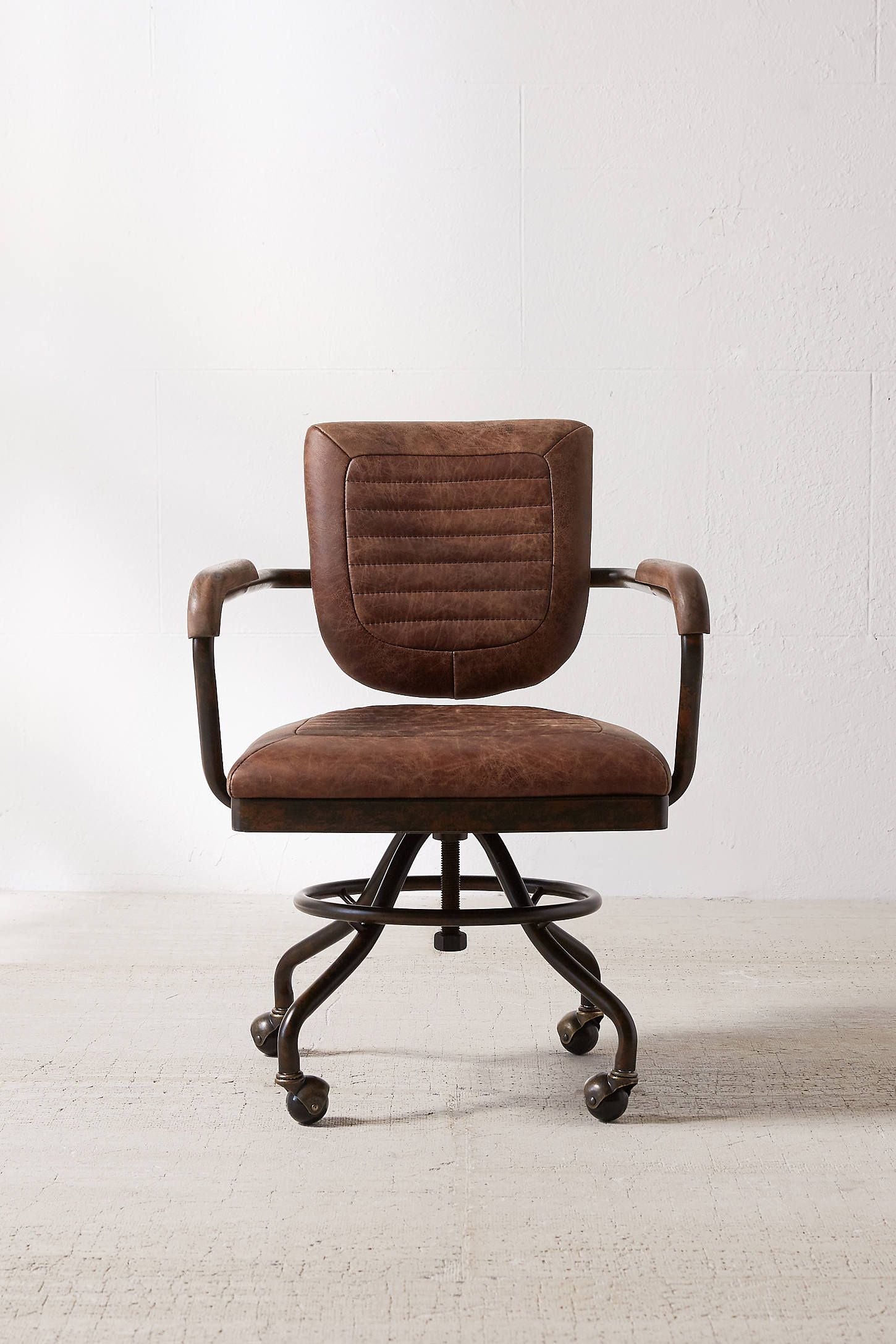 Foster Leather Desk Chair Leather desk, Desk chair, Chair