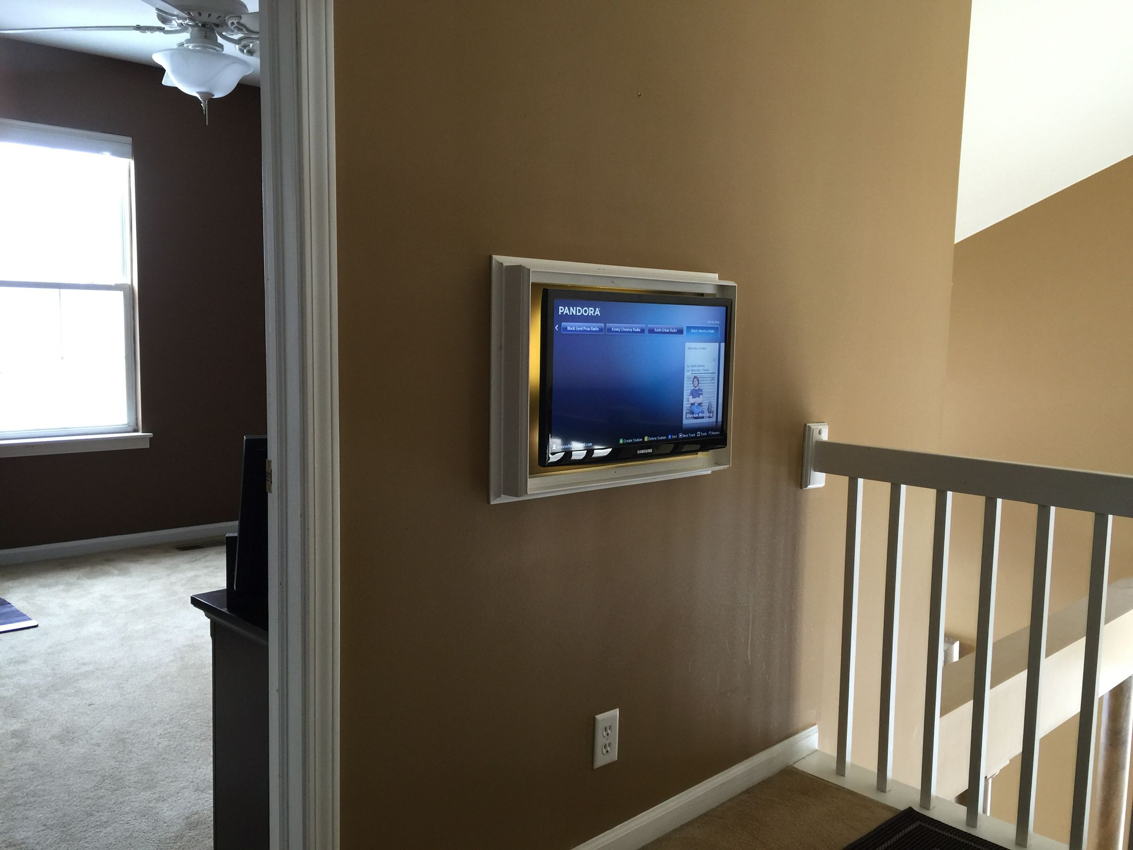Tv Wall Frame Quick And Simple Way To Hide Your