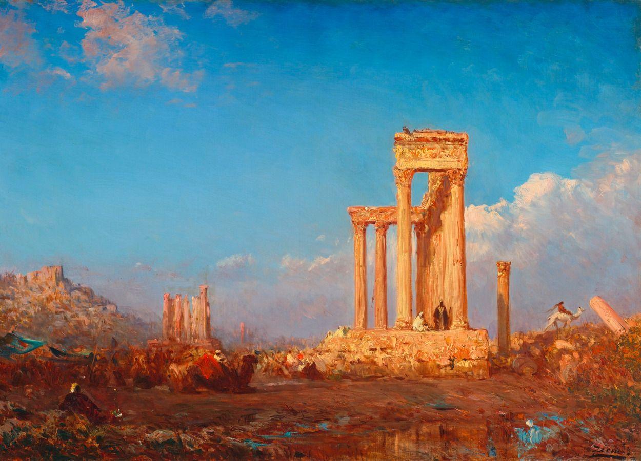 Ruins of Palmyra Félix Ziem 19th century